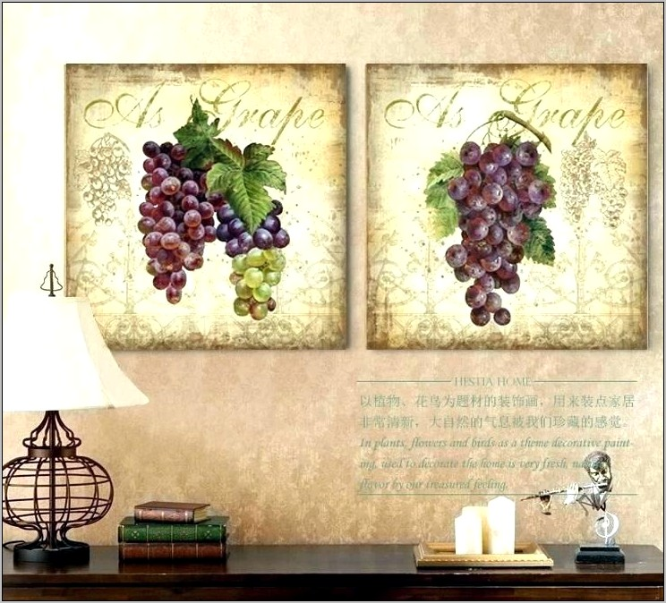 Cheap Grape And Wine Kitchen Decor