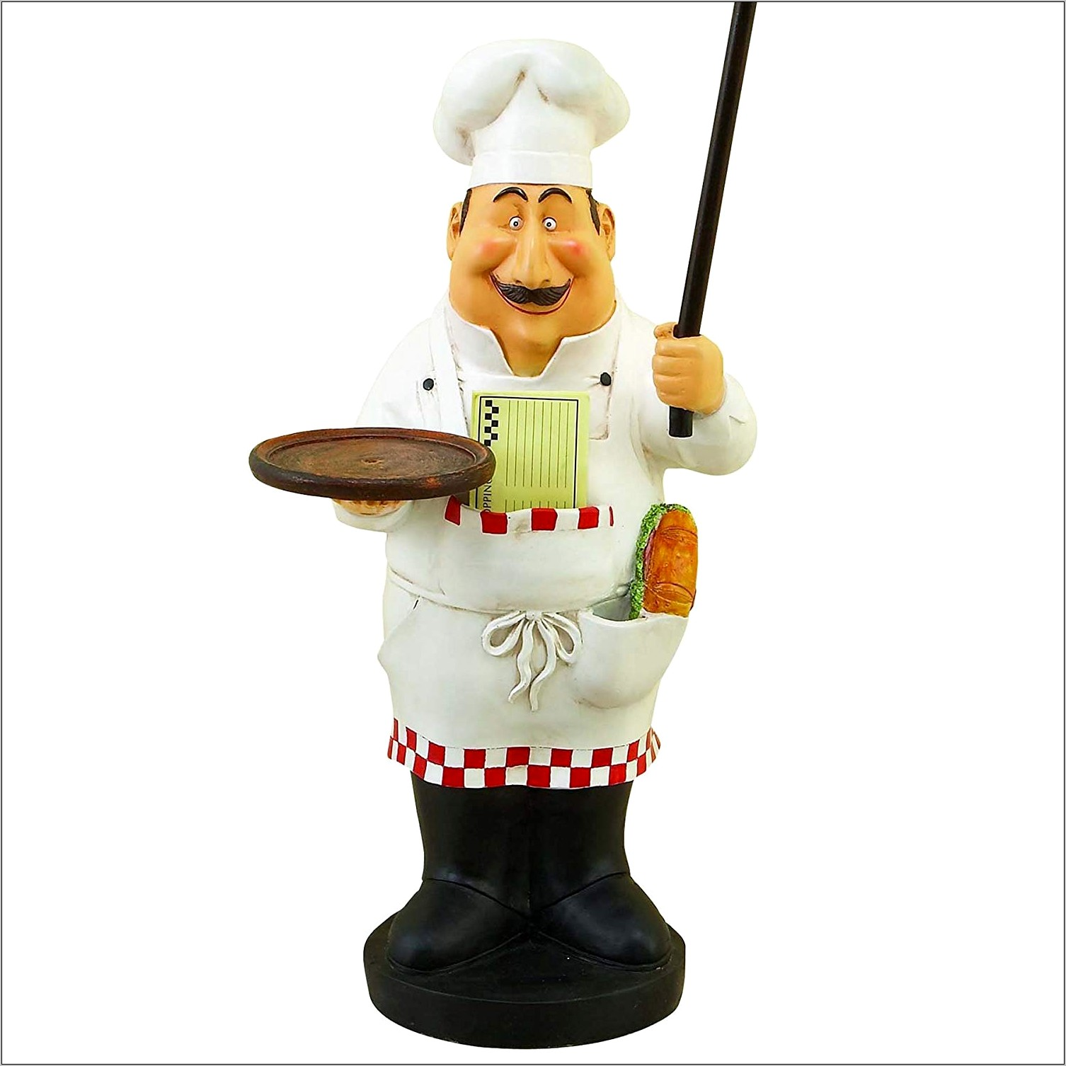 Chef Figurine With Chalkboard Kitchen Decor