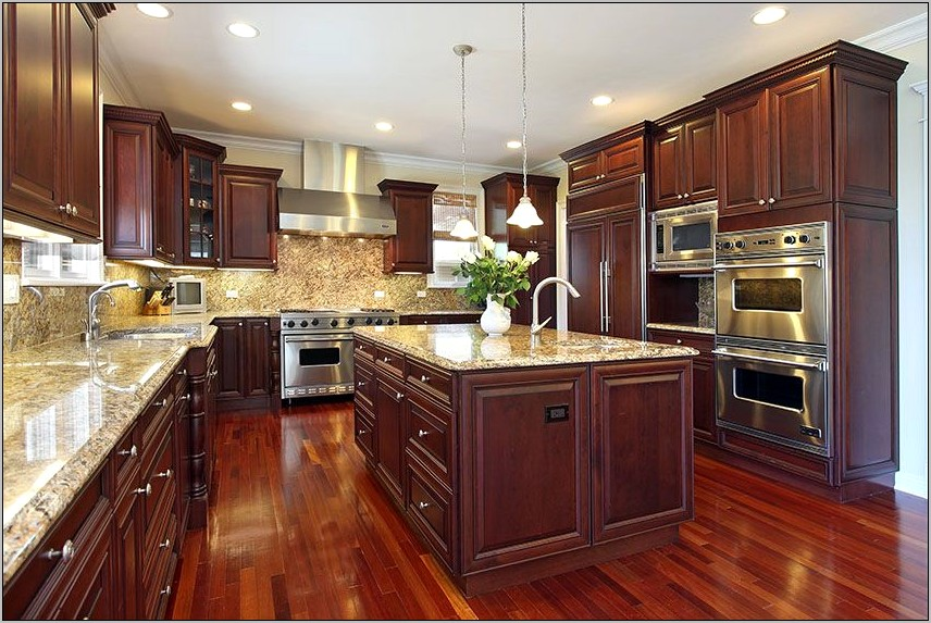 Cherry Wood Kitchen Decor