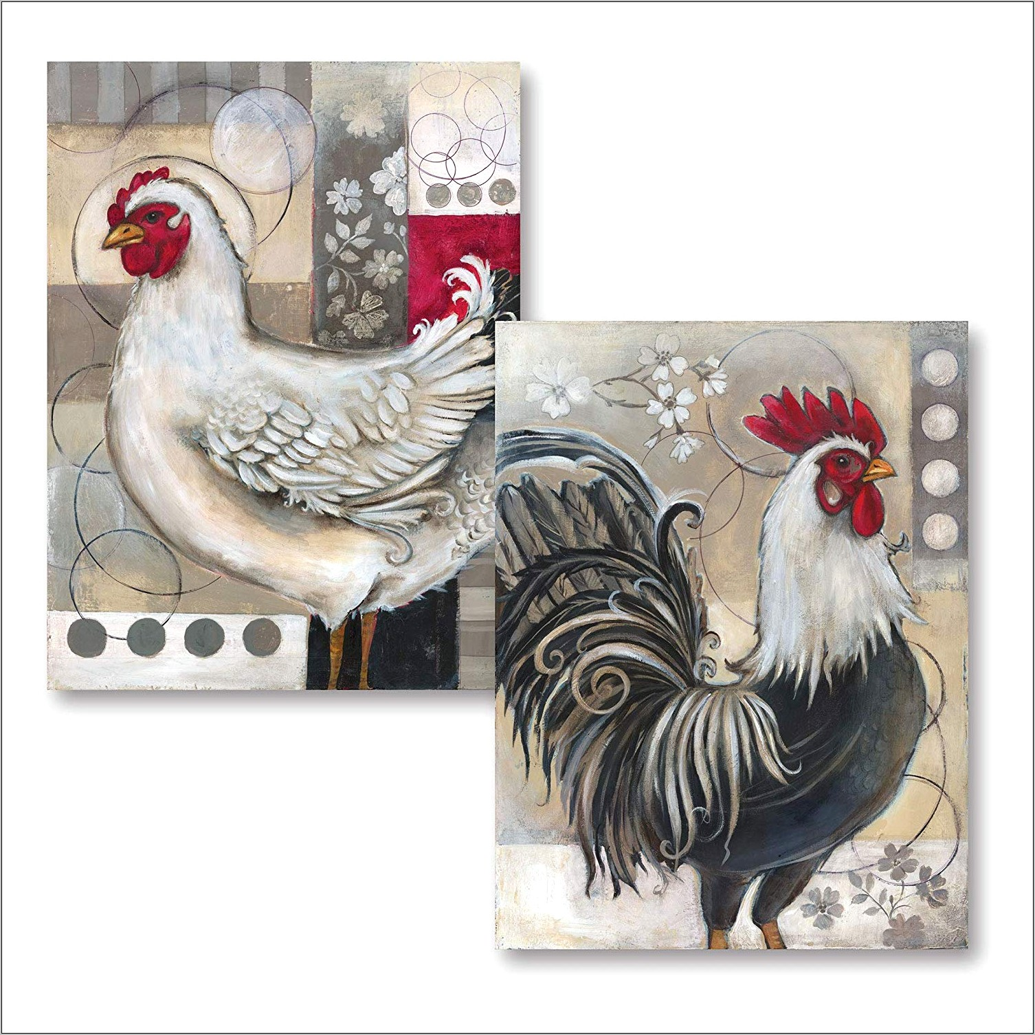 Chicken And Rooster Kitchen Decor