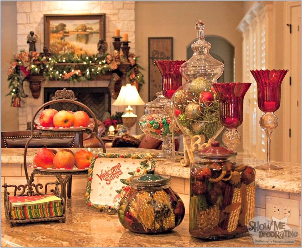 Christmas Decorating Ideas For Kitchen Island