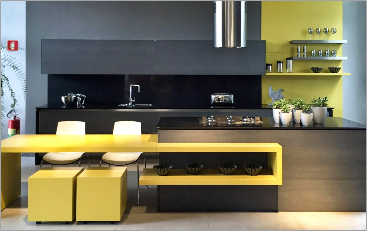 Citrus Green And Black Kitchen Decor