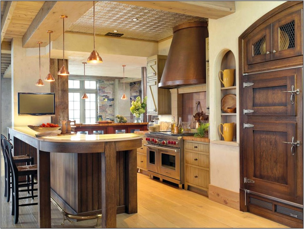 Classy Rustic Steel And Wood Kitchen Decor