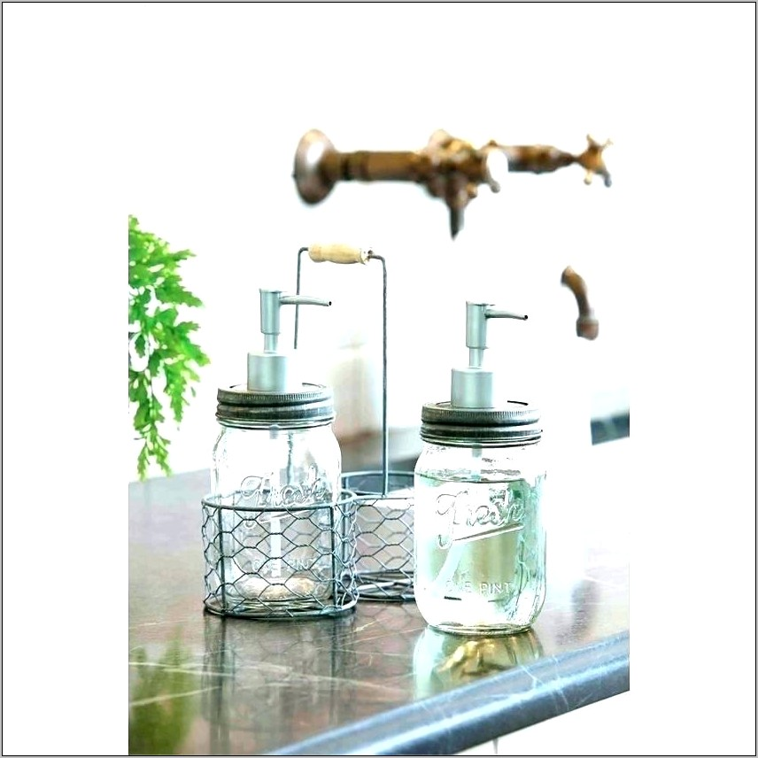 Clear Glass Bottle Kitchen Decor