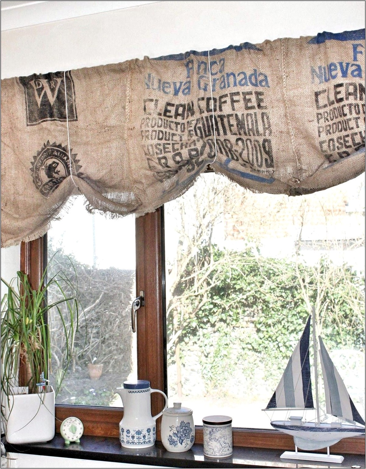 Coffee Themed Kitchen Decor Curtains