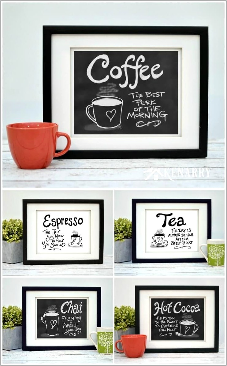 Coffee Wall Art Decor Kitchen