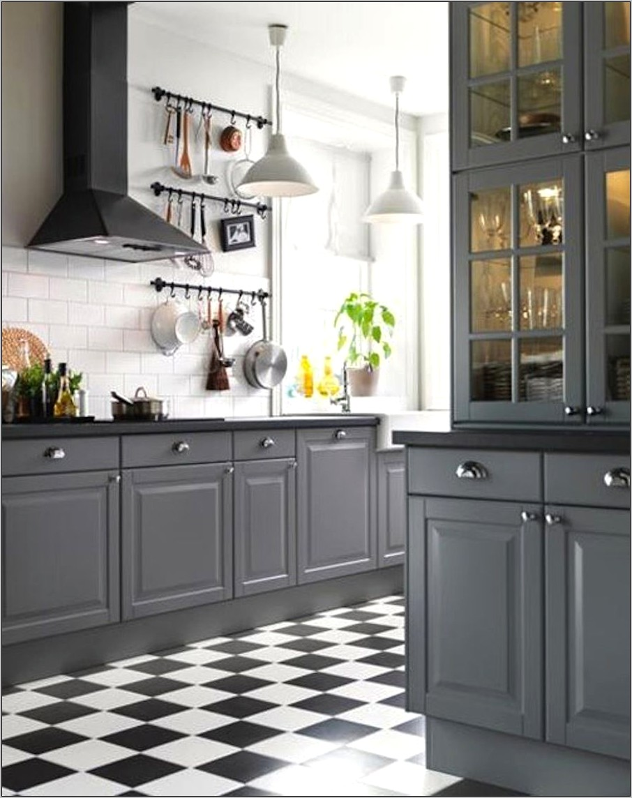 Compar With Grey Kitchen Decor