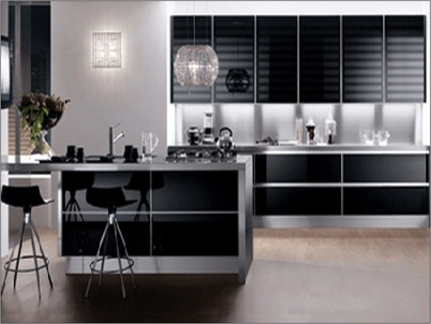 Contemporary Black And White Kitchen Decorating Ideas