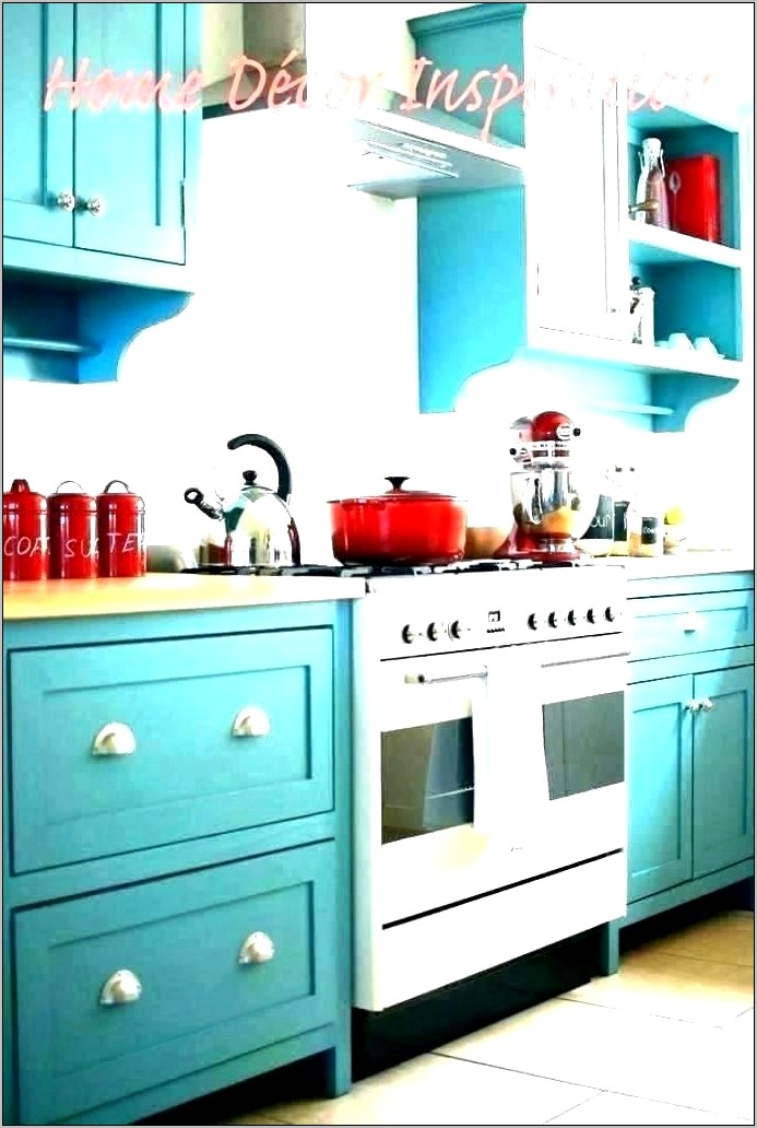 Coral And Turquoise Kitchen Wall Decor