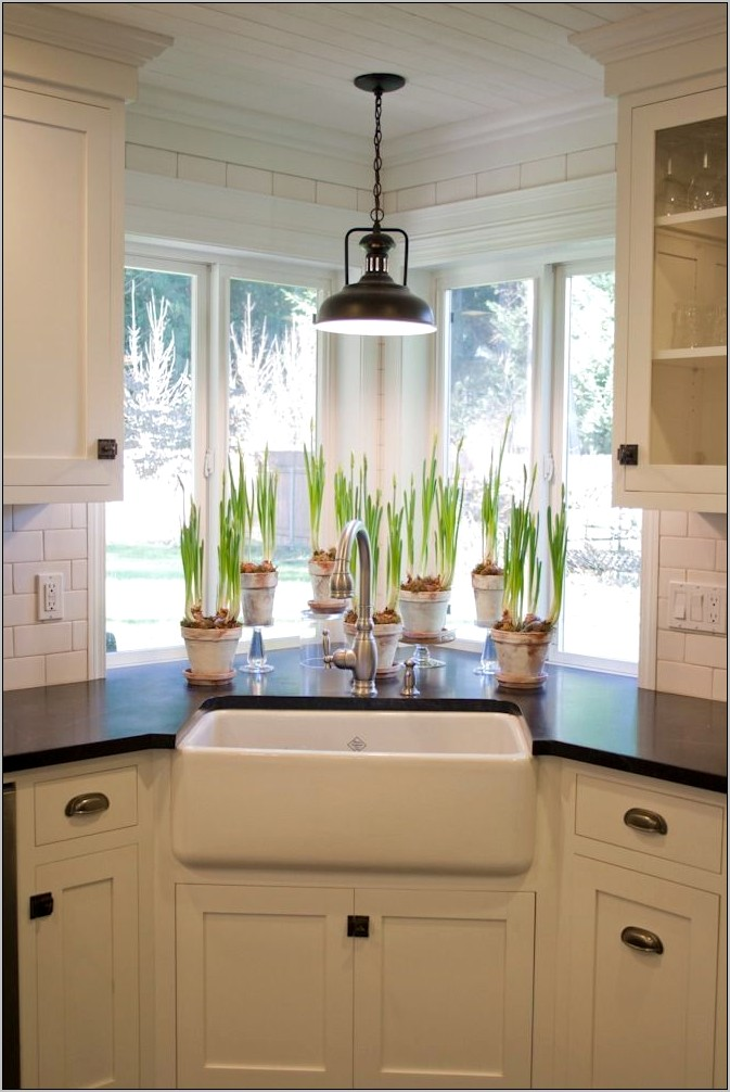 Corner Kitchen Sink Decorating Ideas