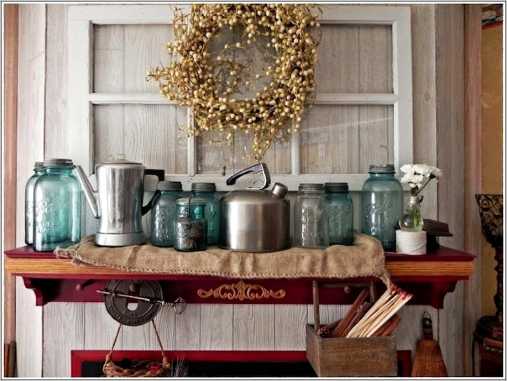 Country Antique Decorations For The Kitchen