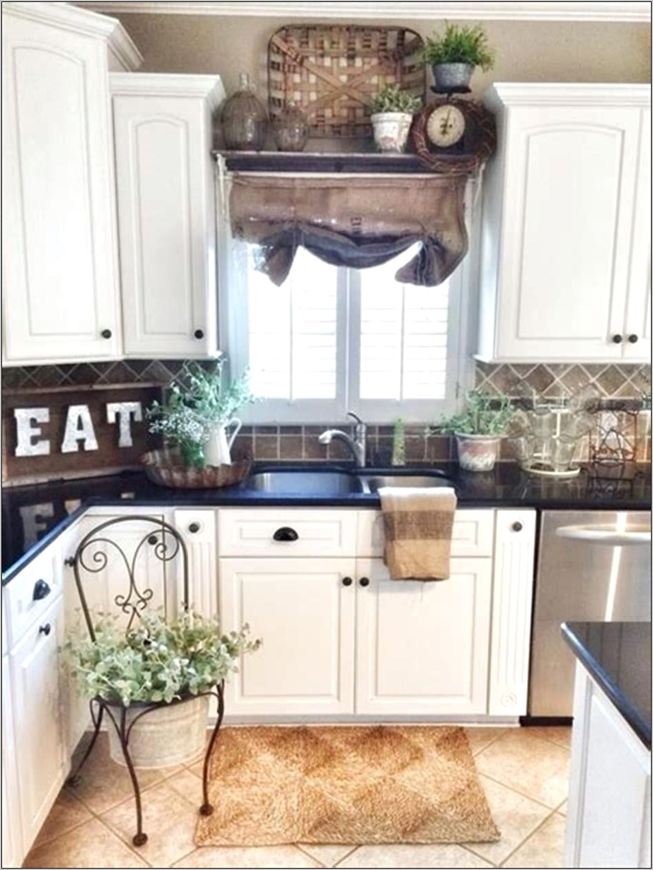 Country Farmhouse Kitchen Decorating Ideas