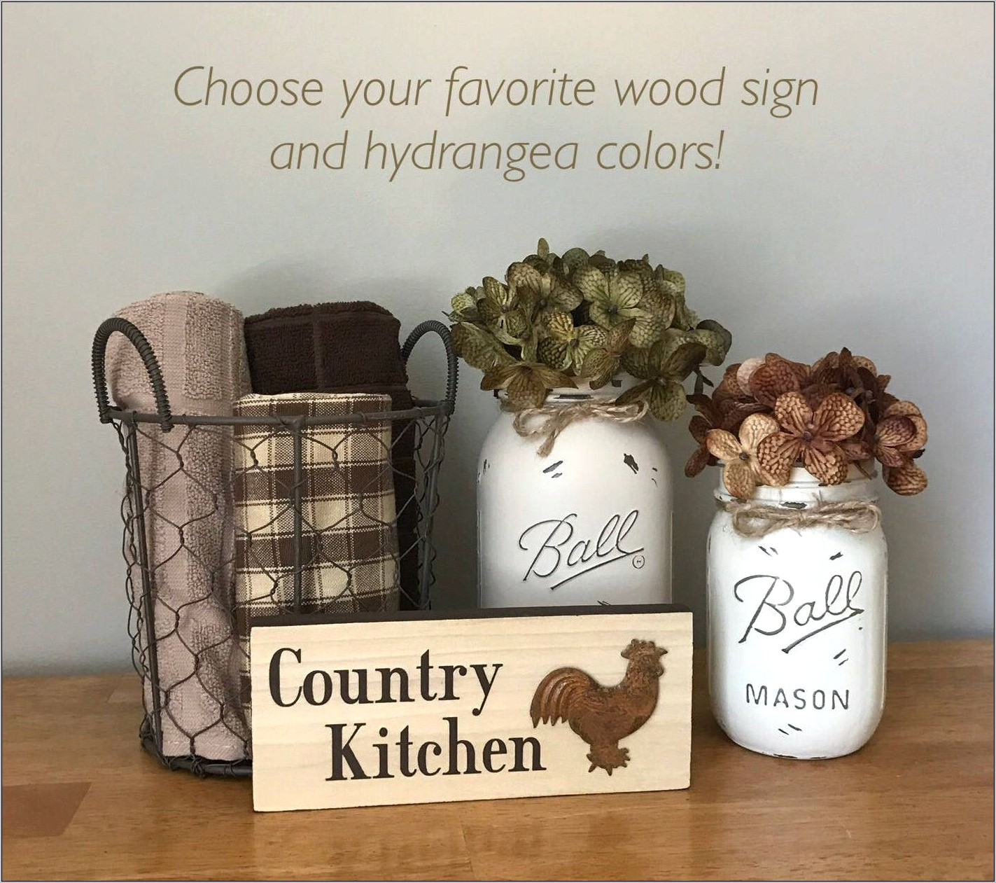 Country Kitchen Decor Set