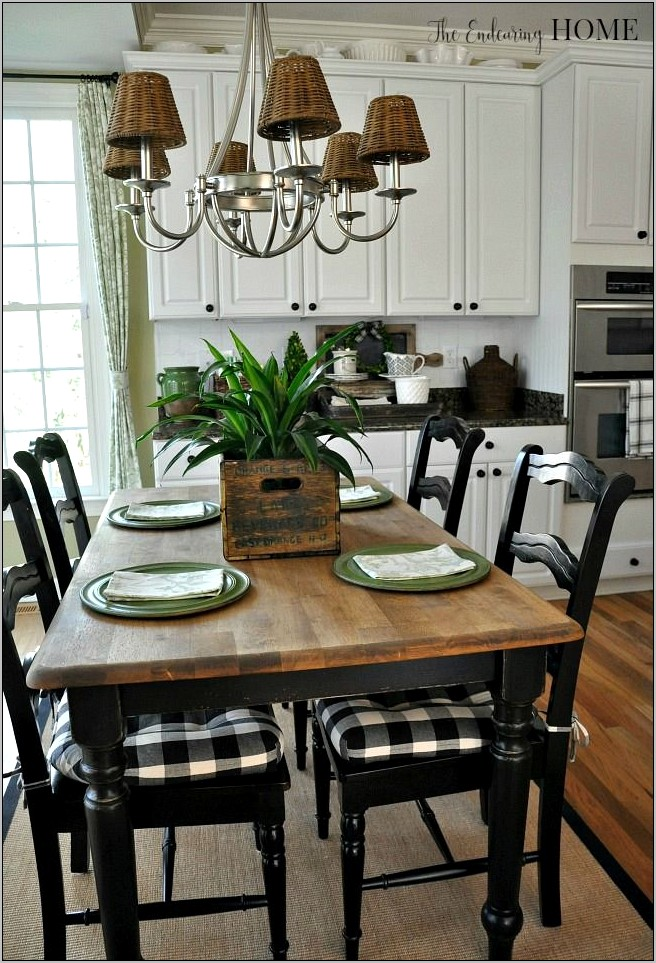 Country Table Top Decor For Kitchens