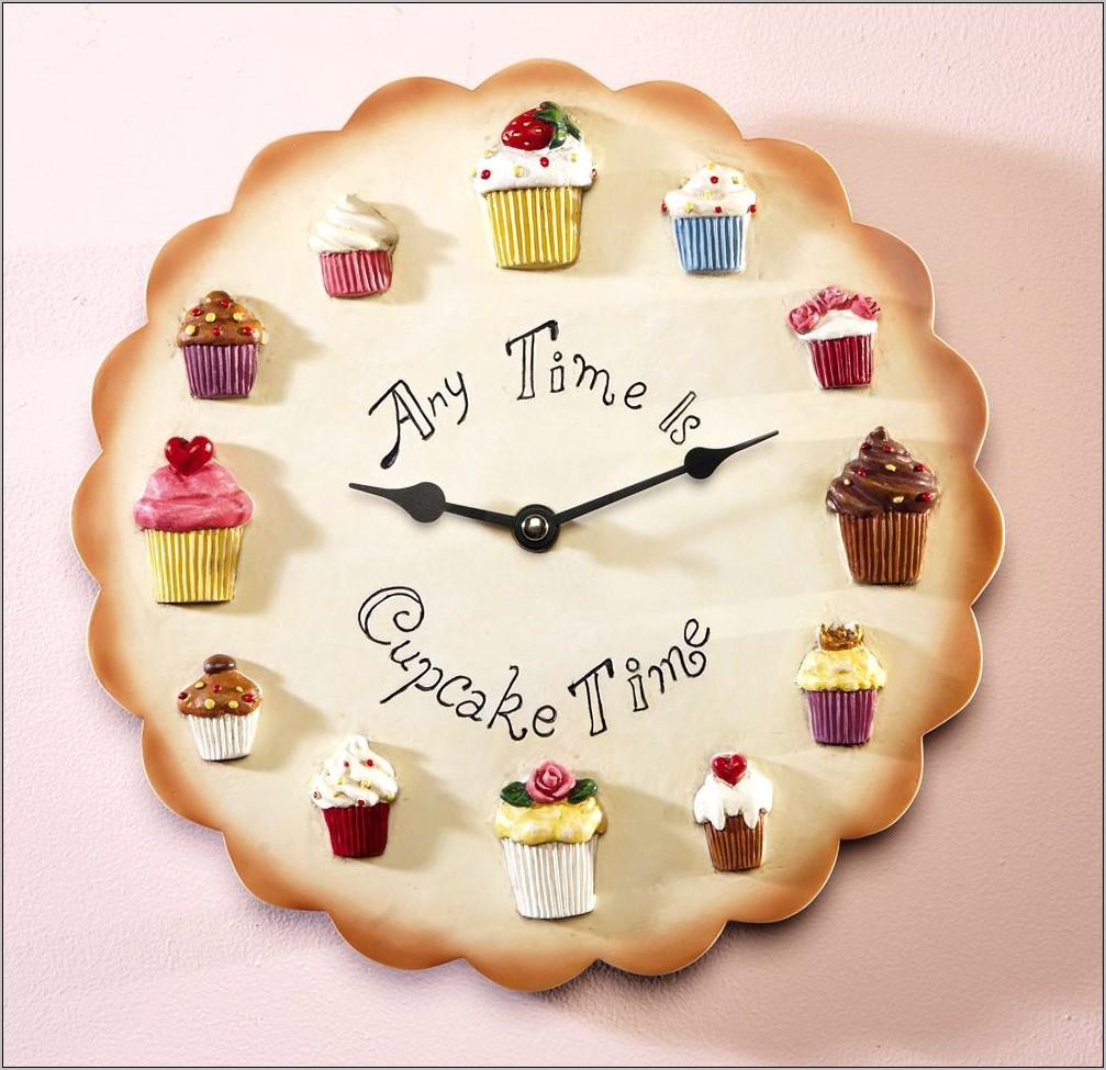 Cupcake Kitchen Decorative Wall Clock