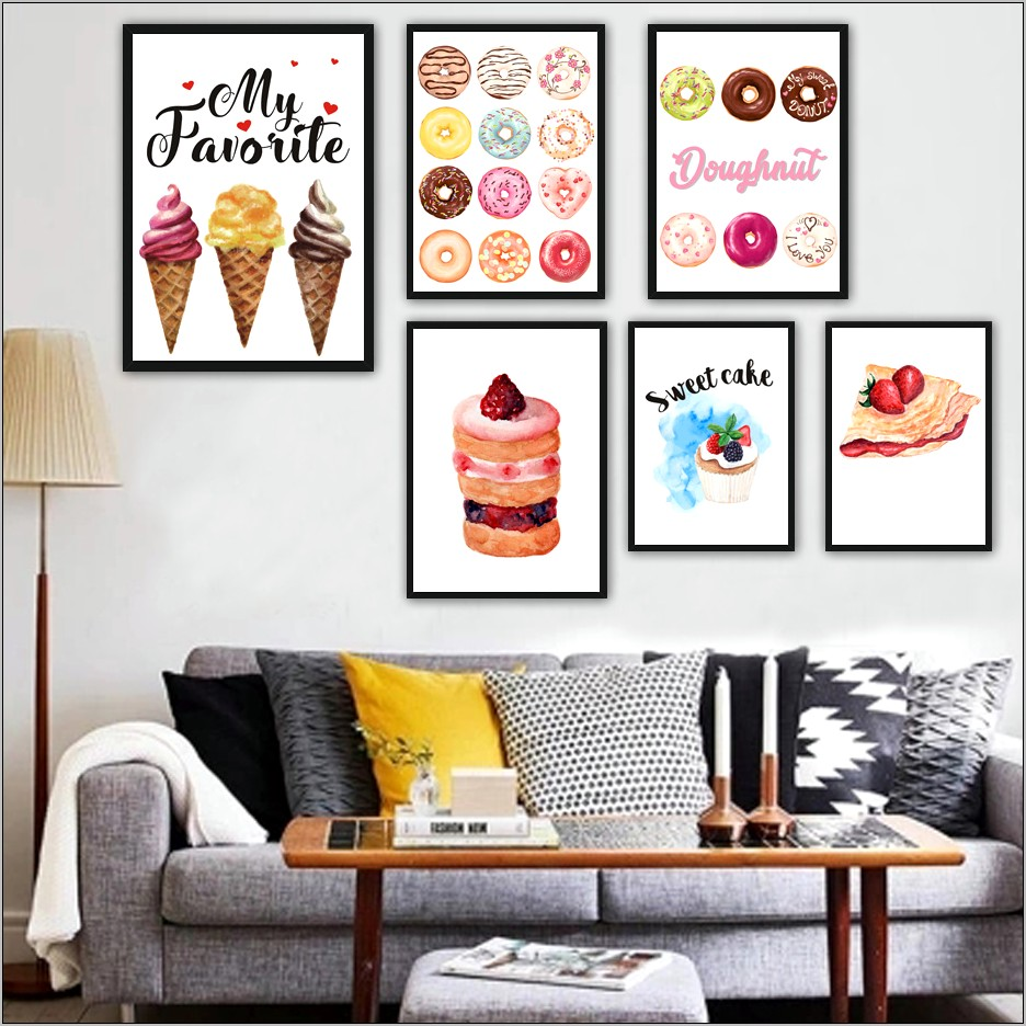 Cupcake Wall Prints Kitchen Decor