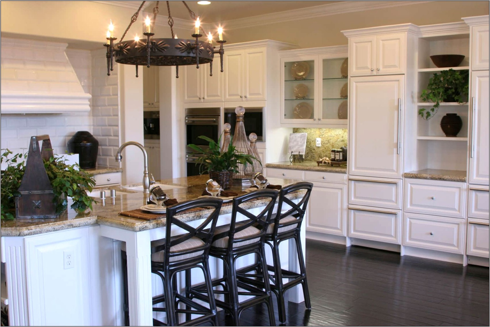 Dark Hardwood Floors Kitchen Decorating Ideas