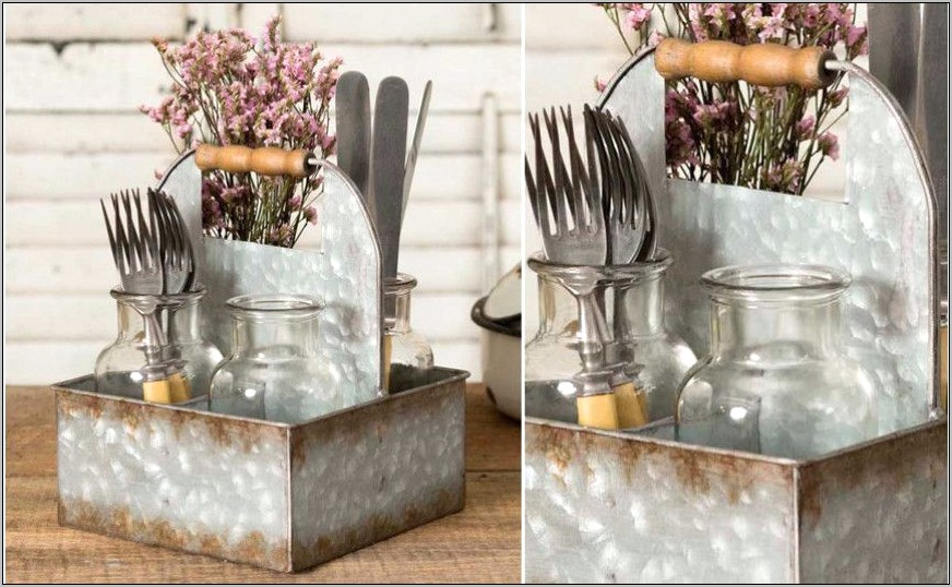 Decor Steals Galvanized Kitchen Caddy