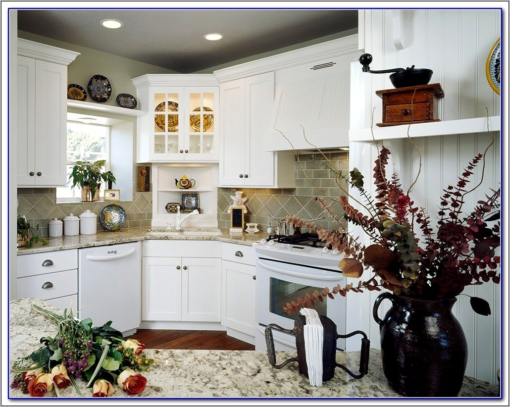 Decorate Corner Of Counter In Kitchen