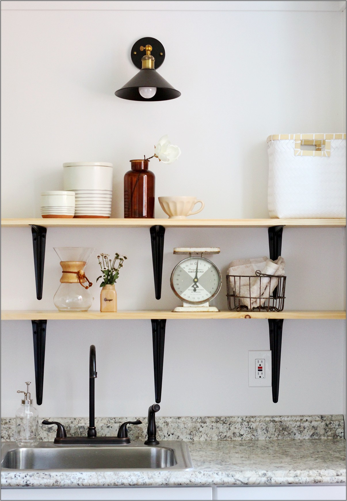 Decorate Shelving In Kitchen