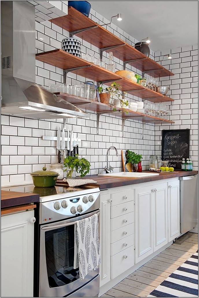 Decorate The Kitchen Shelves