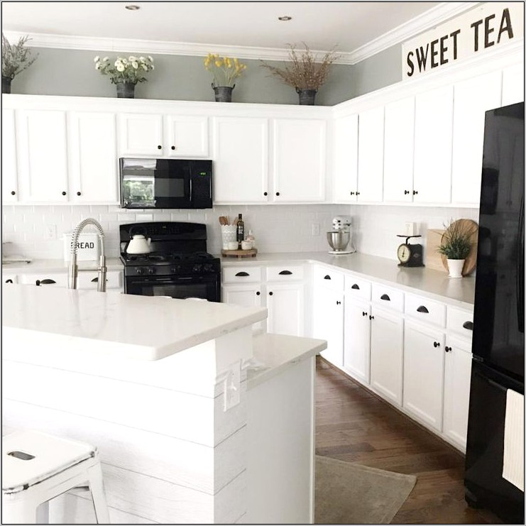 Decorating Above Cabinets Your Kitchen