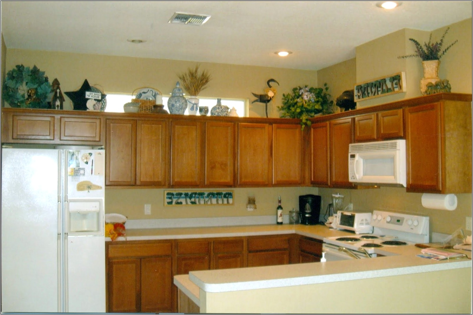 Decorating Above Kitchen Cabinets Modern