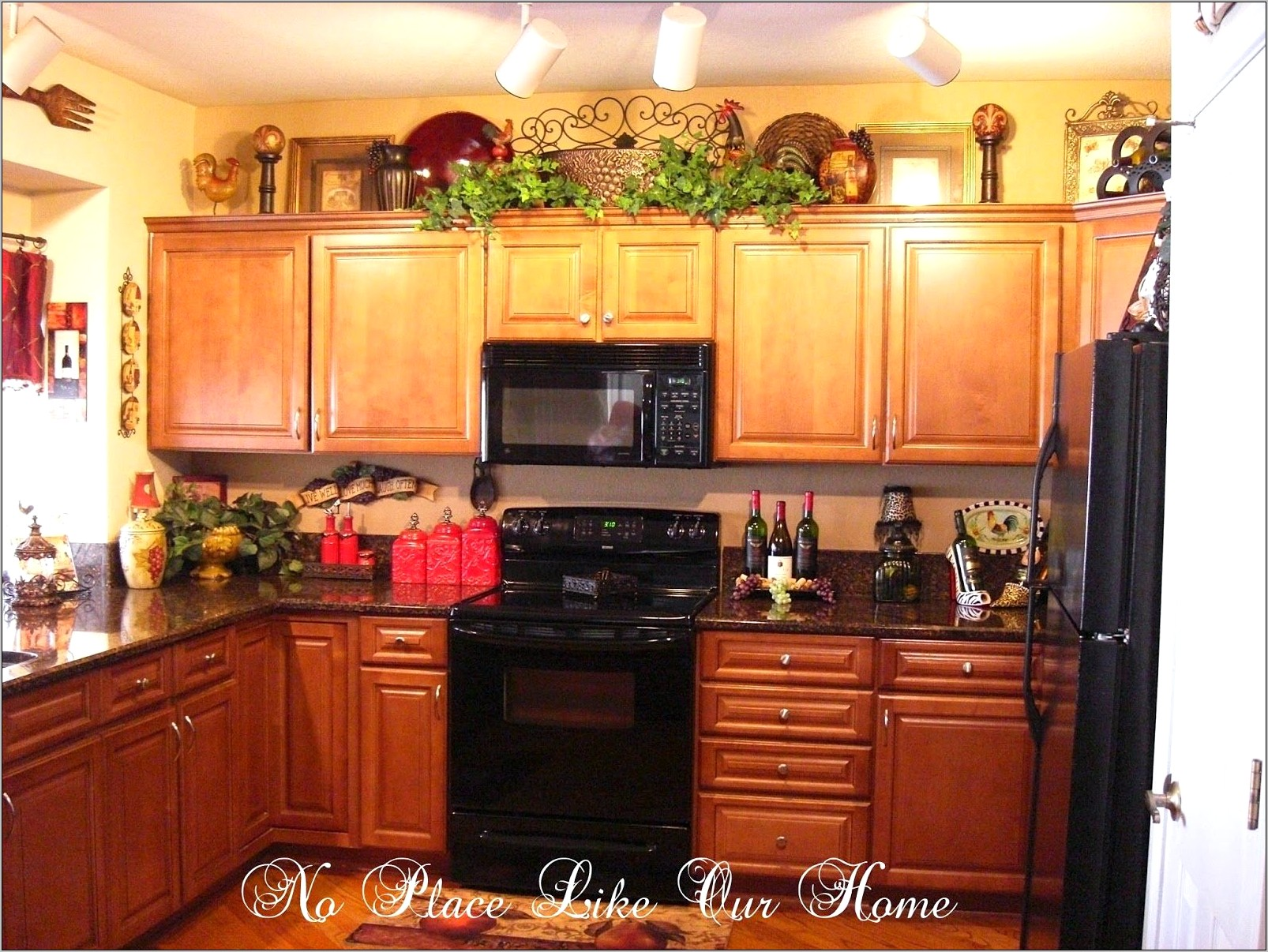 Decorating Above Kitchen Cabinets Tuscan Style