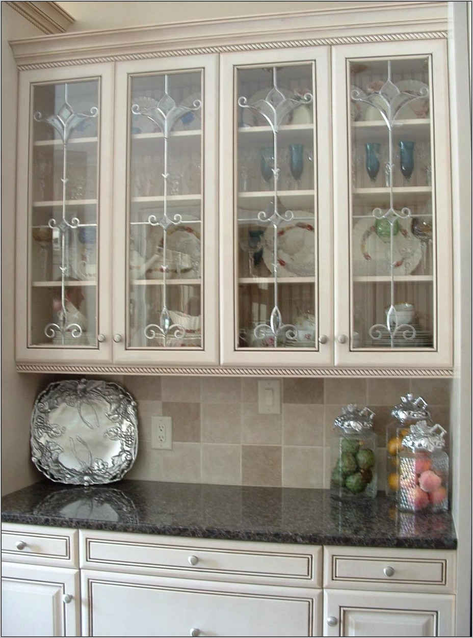 Decorating Glass Door Kitchen Cabinets