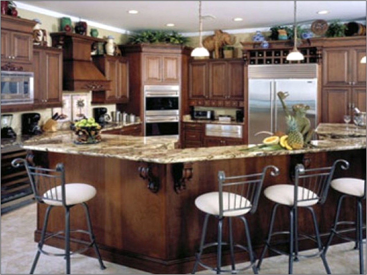 Decorating Ideas For Area Above Kitchen Cabinets