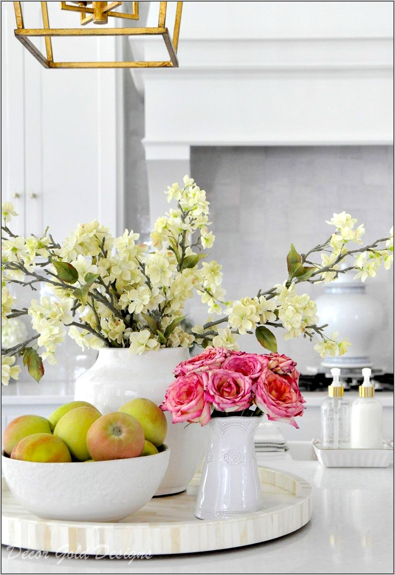Decorating Ideas For Kitchen Countertops With Vignettes