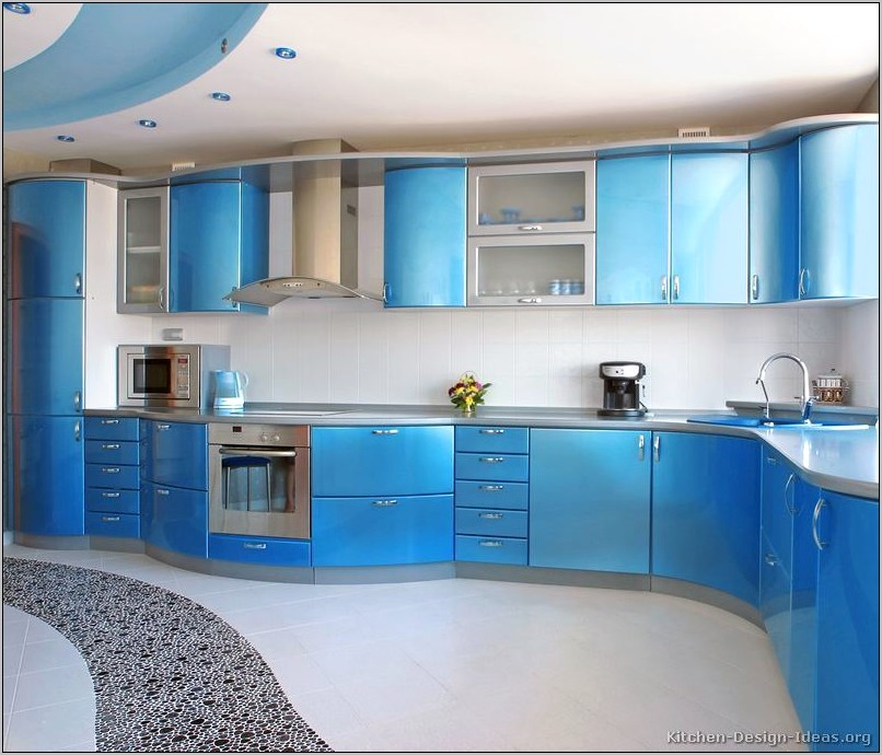Decorating Ideas For Kitchens With Blue Countertops
