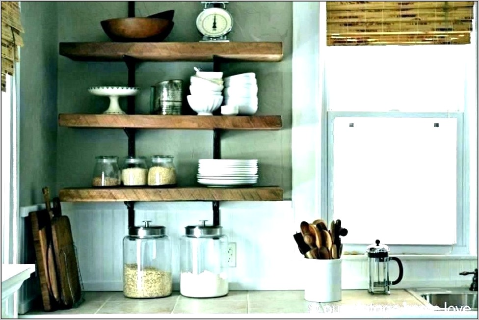 Decorating Ideas For Open Kitchen Shelves