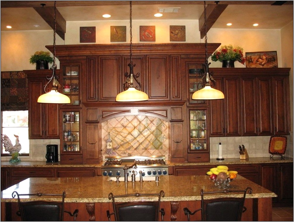 Decorating Ideas Space Above Kitchen Cabinets