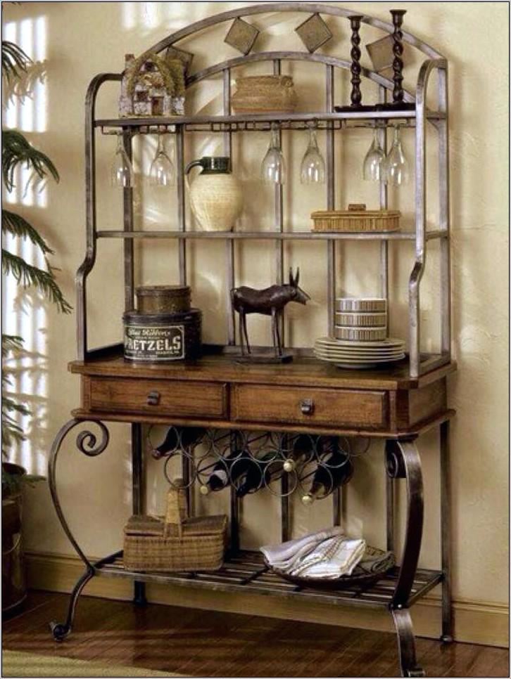 Decorating Kitchen Bakers Rack