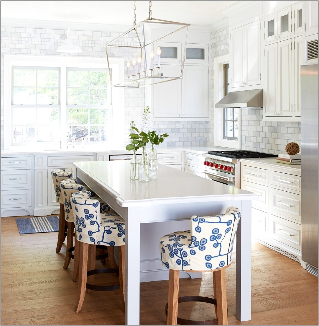 Decorating Kitchen Blue Countertops