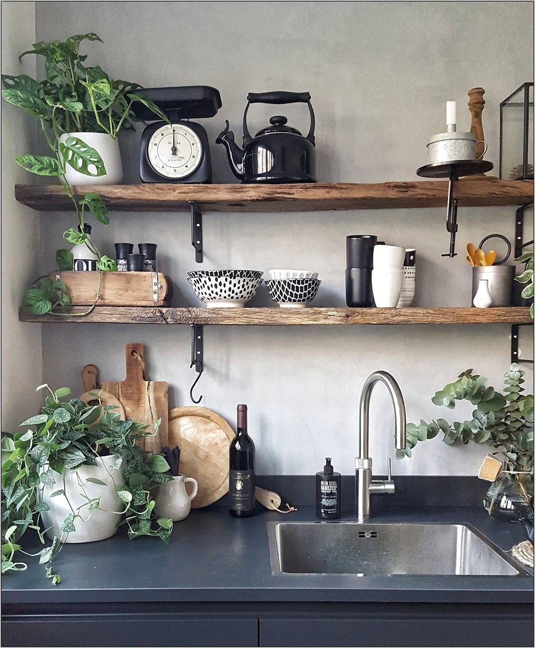 Decorating Kitchen Shelves Pinterest