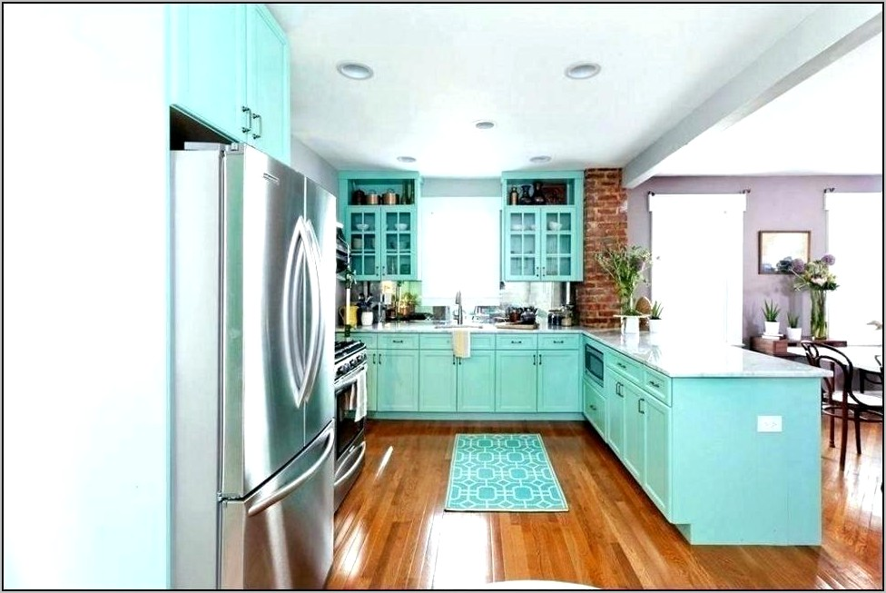 Decorating Kitchen Teal And Coral