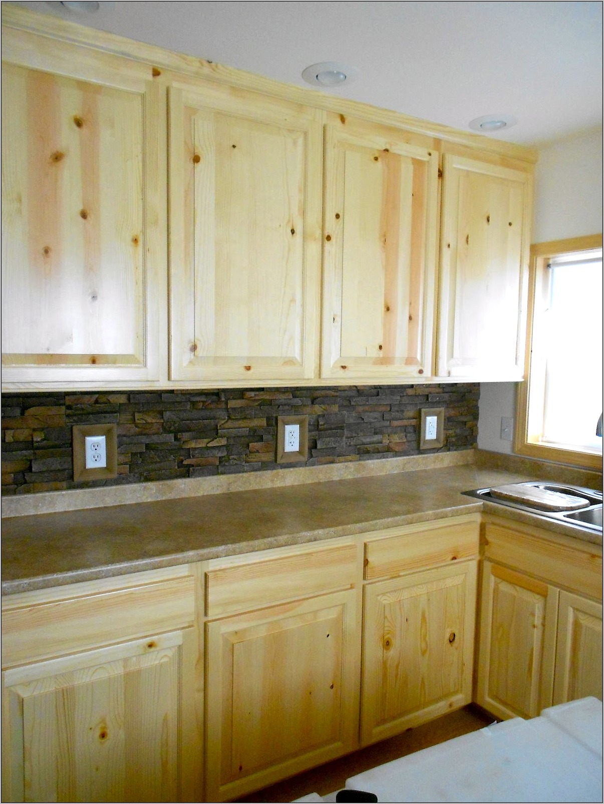 Decorating Kitchen With Knotty Pine Cabinets