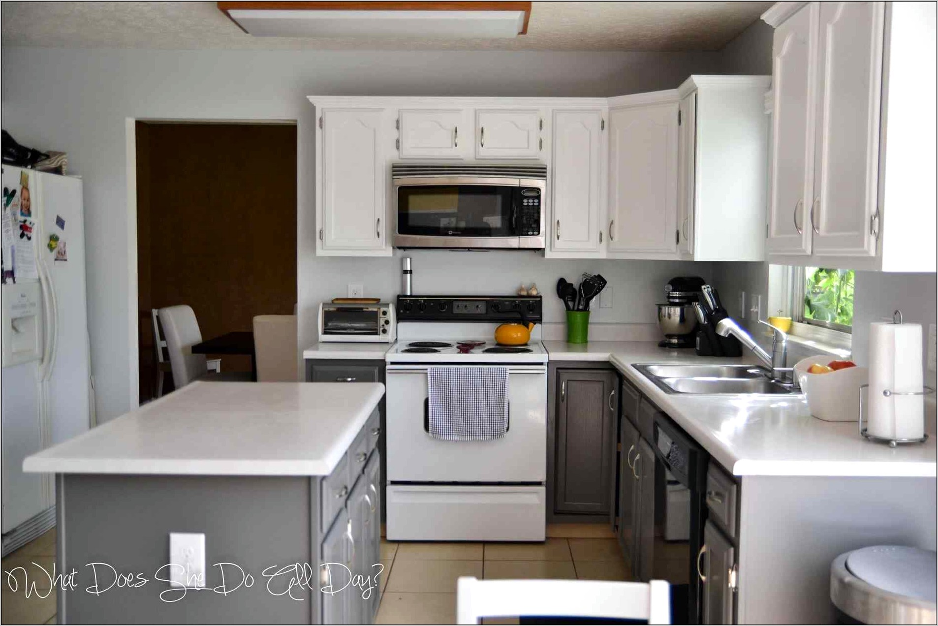 Decorating Small Kitchen With Grey Cabinets