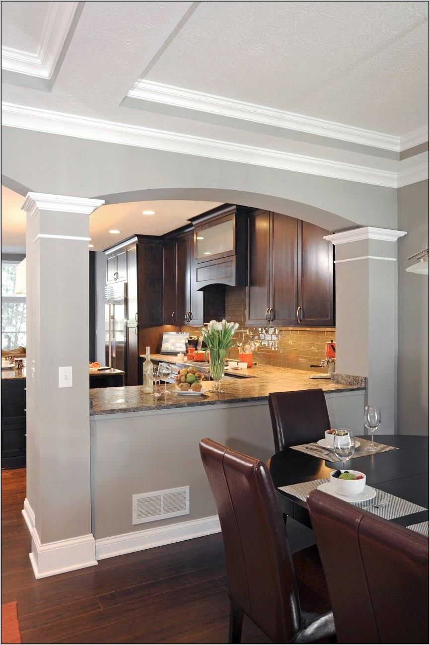 Decorating With Columns In Kitchen