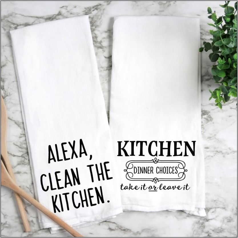 Decorative Flour Sack Kitchen Towels