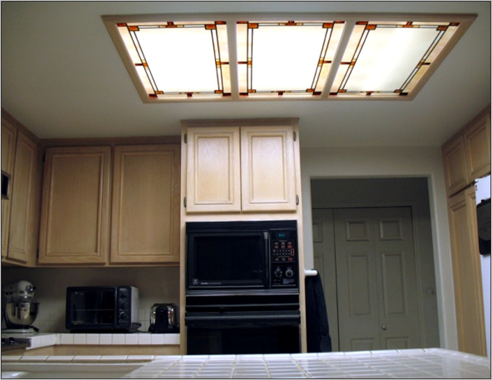 Decorative Fluorescent Kitchen Light Panels