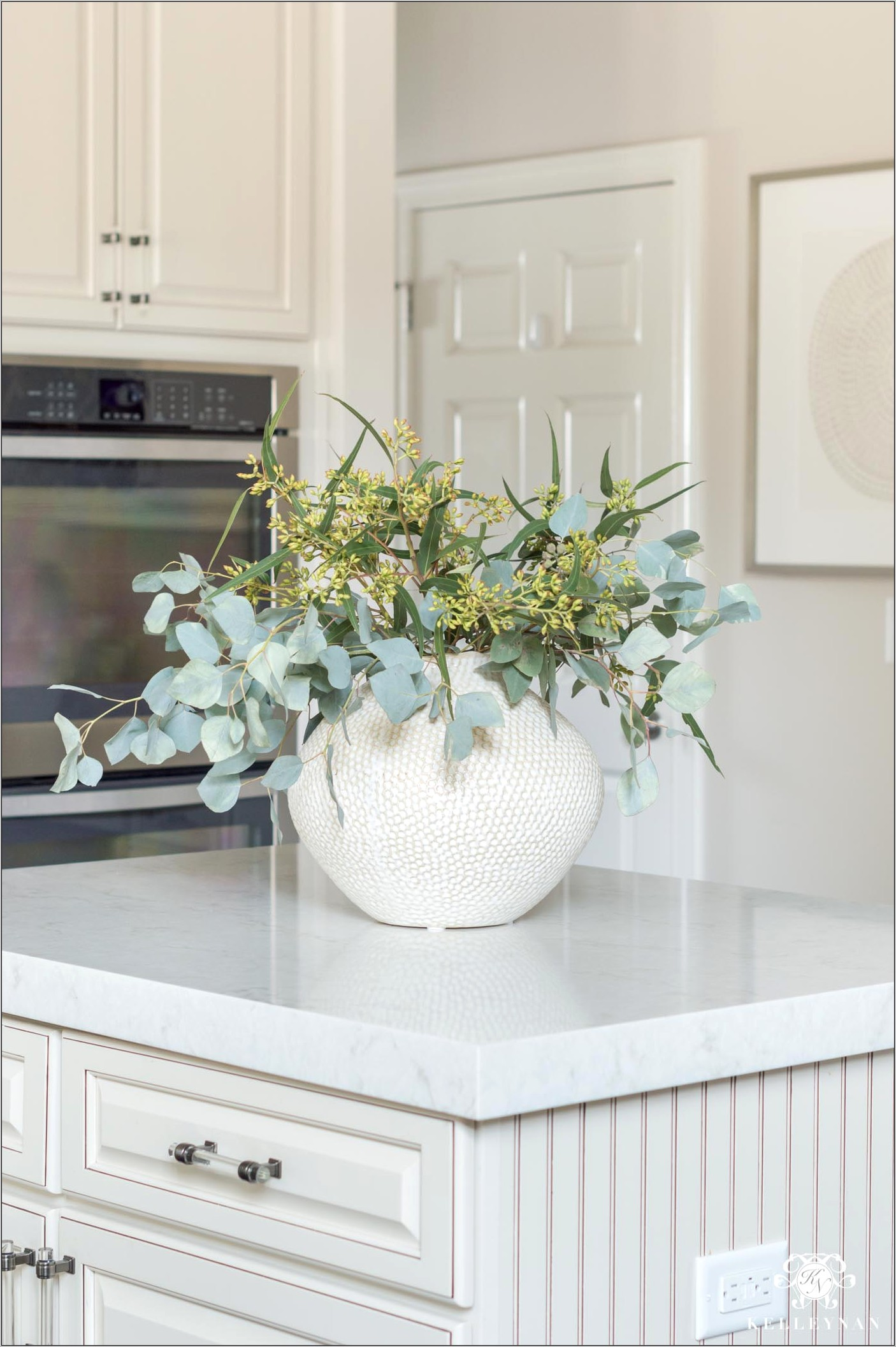 Decorative Glass Bowl On Kitchen Counter