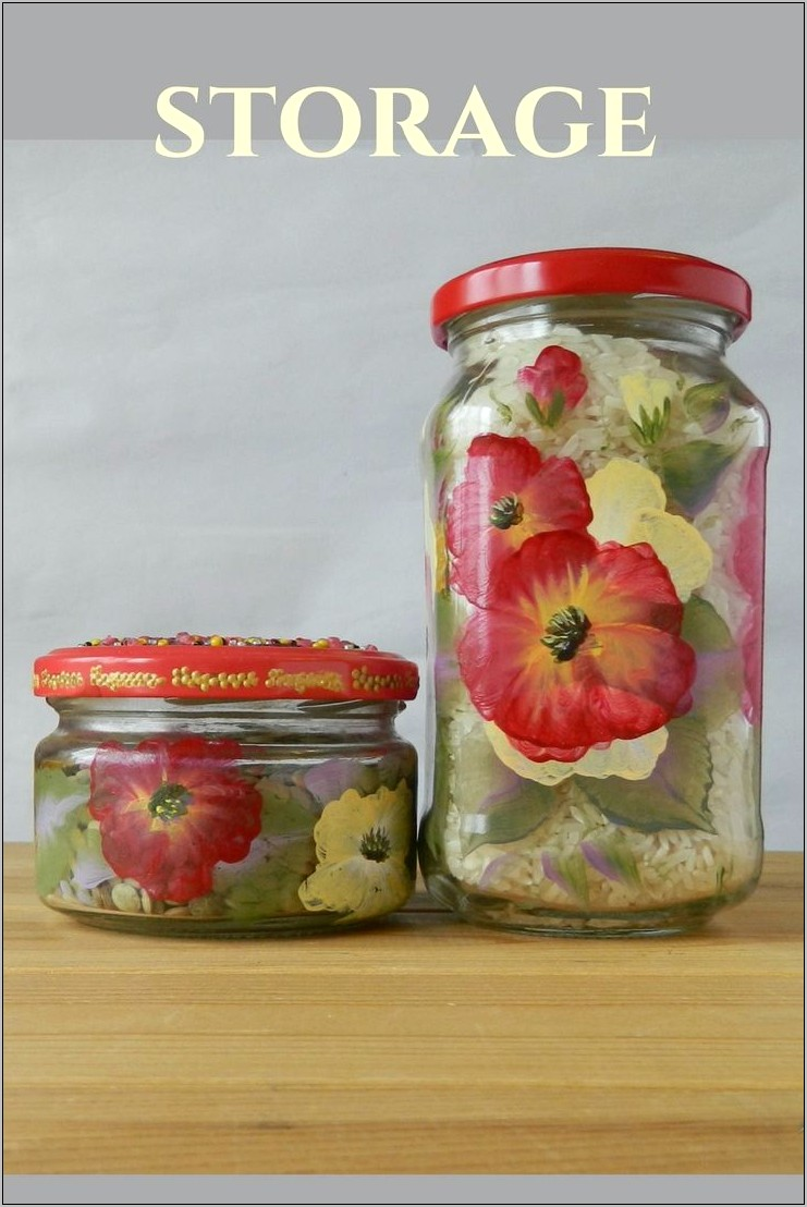 Decorative Glass Kitchen Storage Containers