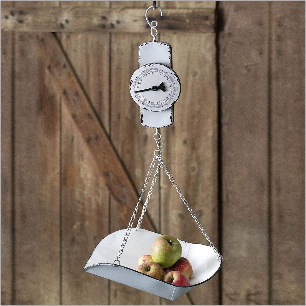 Decorative Hanging Kitchen Scale