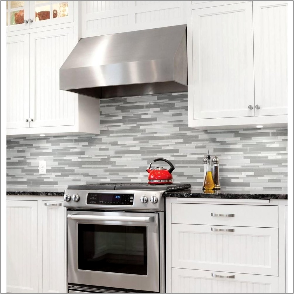 Decorative Kitchen Backsplash Tiles With Evergreens