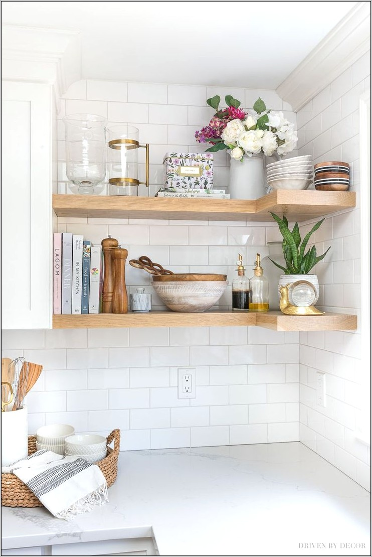 Decorative Kitchen Corner Shelves