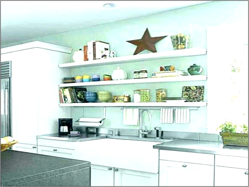 Decorative Kitchen Counter Shelves