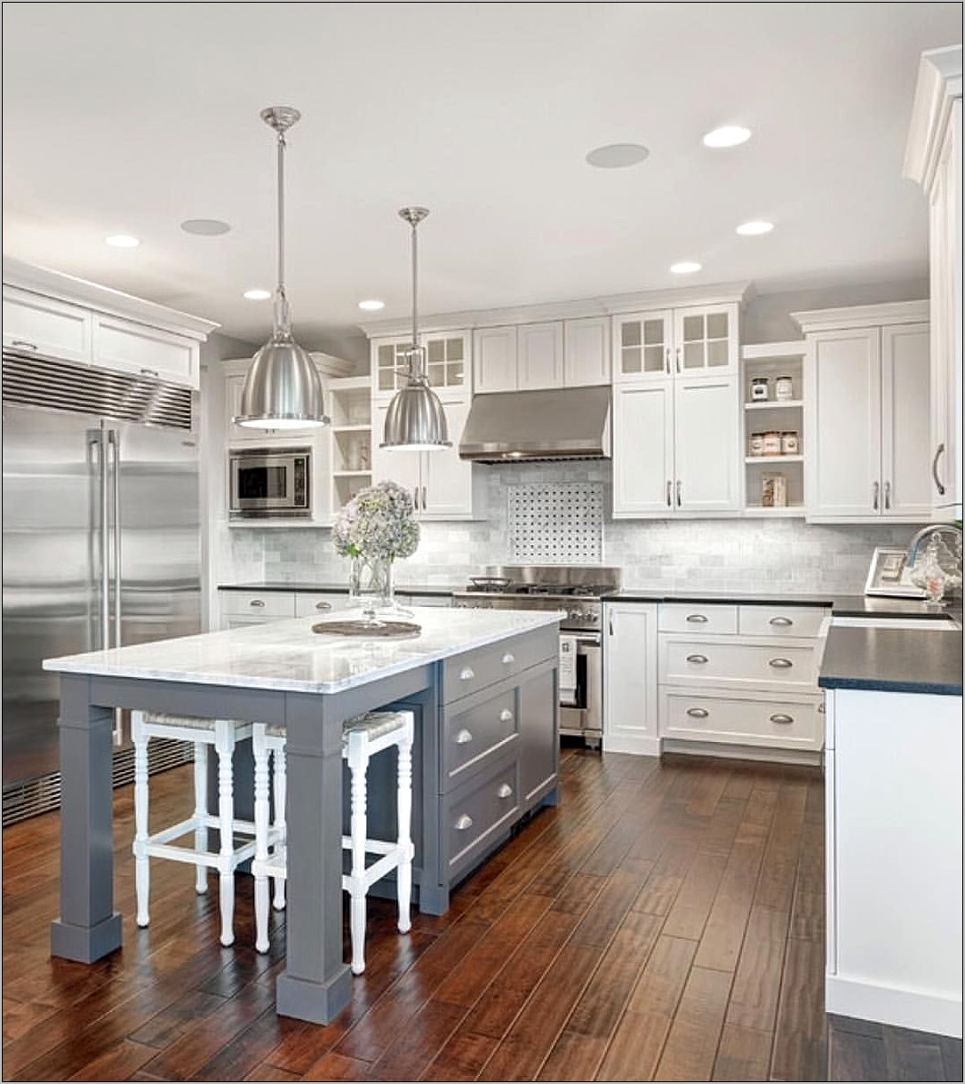 Decorative Kitchen Island Angled Corner Leg